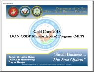 Gold Coast 2018, DON OSBP Mentor Protege Program