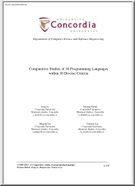 Li-Rabah-Liu - Comparative Studies of 10 Programming Languages within 10 Diverse Criteria