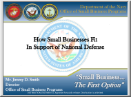 How Small Businesses Fit in Support of National Defense