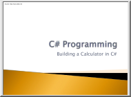 Building a Calculator in C#