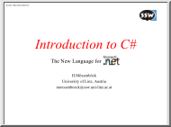 H. Mössenböck - Introduction to C#