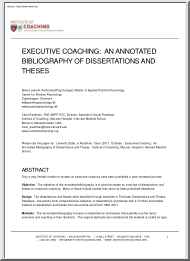 Ebbe Lavendt - Executive Coaching, An Annotated Bibliography of Dissertation and Theses