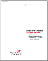 University of Cincinnati Course Description