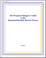 The Program Managers Guide to the Integrated Baseline Review Process