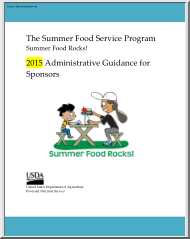 The Summer Food Service Program, Administrative Guidance for Sponsors