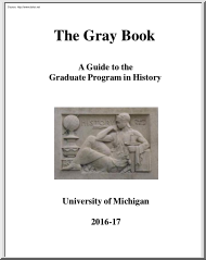 The Gray Book, A Guide to the Graduate Program in History