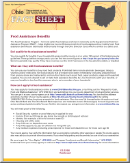 Food Assistance Benefits, Fact Sheet, Ohio