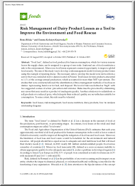 Risk Management of Dairy Product Losses as a Tool to Improve the Environment and Food Rescue