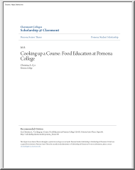 Christina A. Cyr - Cooking up a Course, Food Education at Pomona College