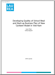 Pham-Nguyen - Developing Quality of School Meal and Start-up Business Plan of New Canteen Model in Viet Nam